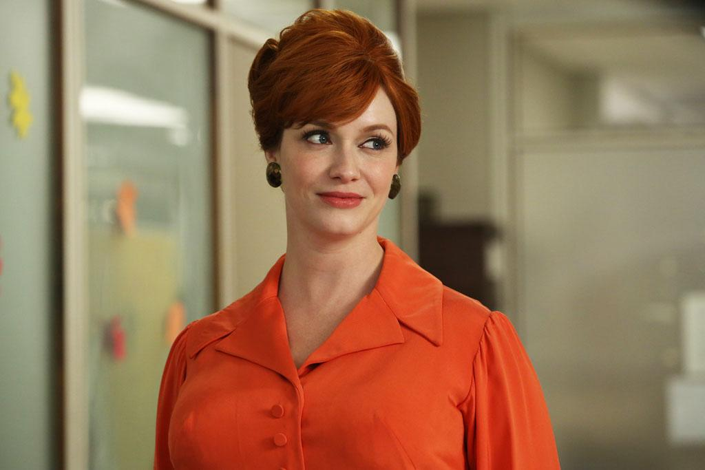 "Joan Harris (Christina Hendricks) in the ""Mad Men"" Season 6 finale, ""In Care Of."""