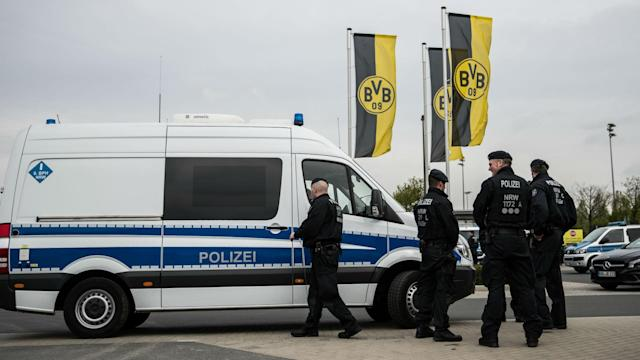 An attack that damaged the team bus of Borussia Dortmund has led to an arrest.