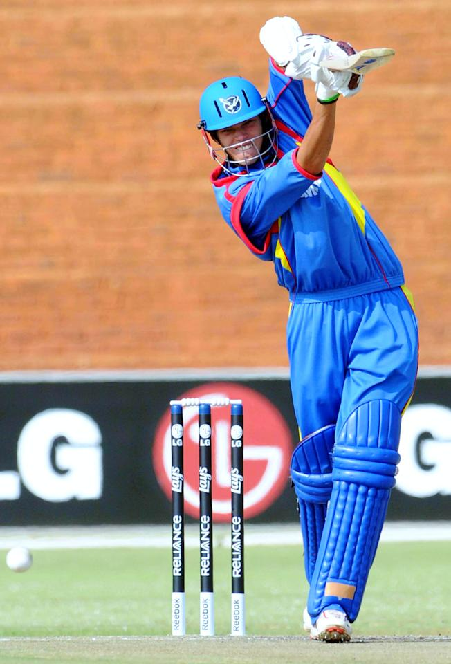 Raymond van Schoor (Namibia): The Namibian vice-captain and opening batsman scored 324 runs (four half-centuries) with a highest score of 79* from nine matches in the tournament. Van Schoor scored his runs at an average of 54 and strike rate of 110.95.