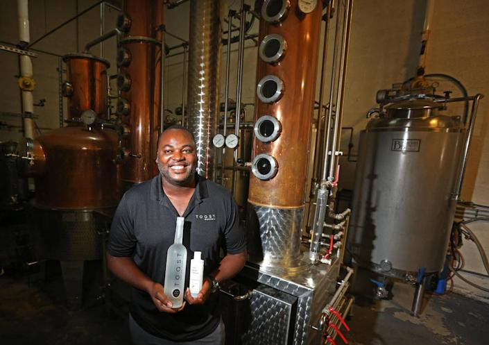 Dieuveny 'DJ' Jean Louis, the Founder and CEO of Toast Distilleries, Inc. began using their alcohol distilling facility to produce alcohol for hand sanitizer. Jean Louis teamed up with Cosmetic Corp, an FDA approved lab in Medley to produce a line of hand sanitizer products called EZ Hand Sanitizer. The sanitizer comes in a variety of scents and dispensers, from gels to sprays to lotions.