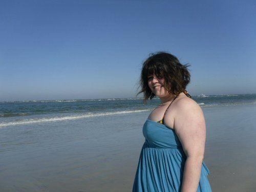 Walking on the beach in Saint Augustine, Florida, in 2008 or 2009. One of the happiest days I can remember, 220-ish pounds notwithstanding. (Photo: Photo Courtesy of Jamie Cattanach)