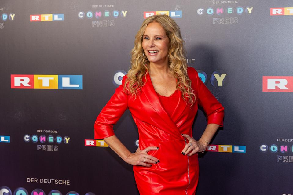 COLOGNE, GERMANY - OCTOBER 02: Katja Burkard pose for the 23rd annual German Comedy Awards at Studio in Koeln Muehlheim on October 2, 2019 in Cologne, Germany. (Photo by TF-Images/Getty Images)