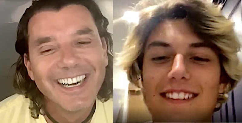 Kingston Rossdale surprises his dad on Instagram Live. (Photo: Instagram)