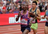 Athletics - London Anniversary Games - London, Britain - July 9, 2017 Great Britain's Mo Farah during the Men's 3000m Action Images via Reuters/Henry Browne