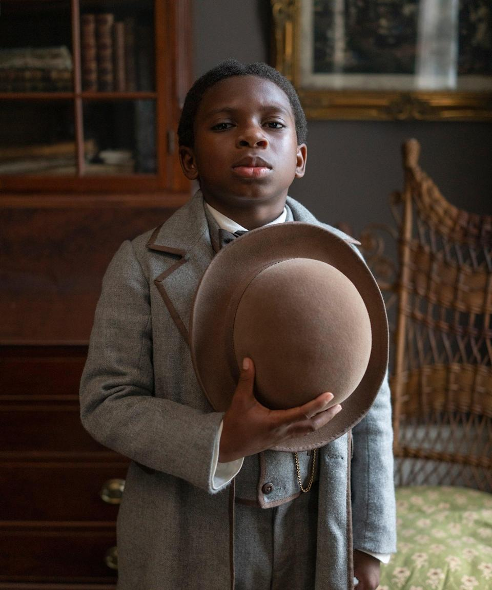 """<h2>Chase W. Dillon plays Homer<br></h2><br>A free young boy, Homer is Ridgeway's assistant and informant, helping him track down any runaway slaves the man has his sights on. Homer was bought by Ridgeway to settle a debt, and was offered his freedom almost immediately. He refused and decided to assist the man down his cruel life path instead.<br><br>Twelve-year-old Dillon has starred in <em>The First Wives Club</em> TV series on BET, <em>Little America</em> on Apple TV, and <em>That Damn Michael Che</em> on HBO Max.<span class=""""copyright"""">Photo: Courtesy of Amazon Studios.</span>"""