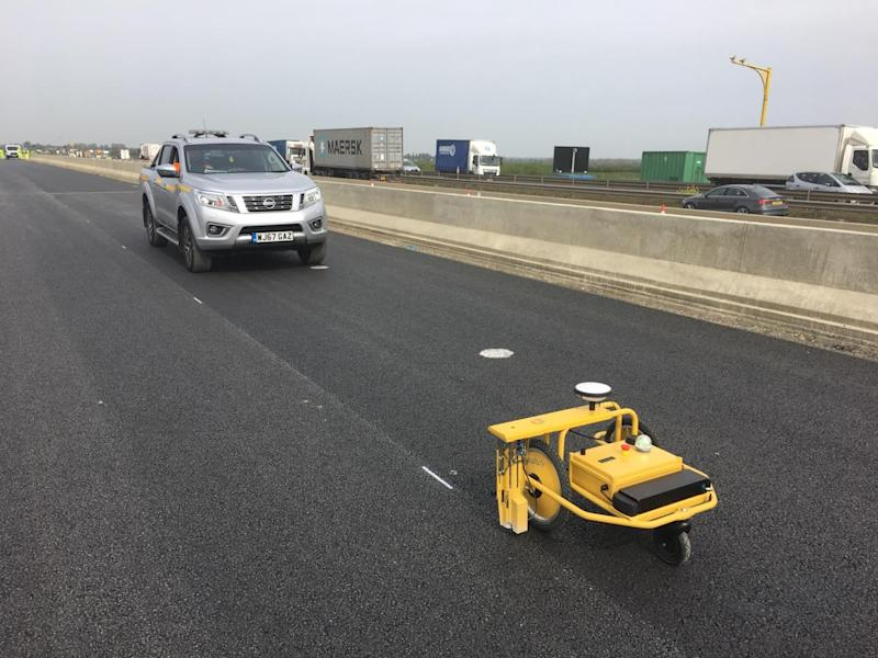The robot in action on the A14 project (Highways England/PA)