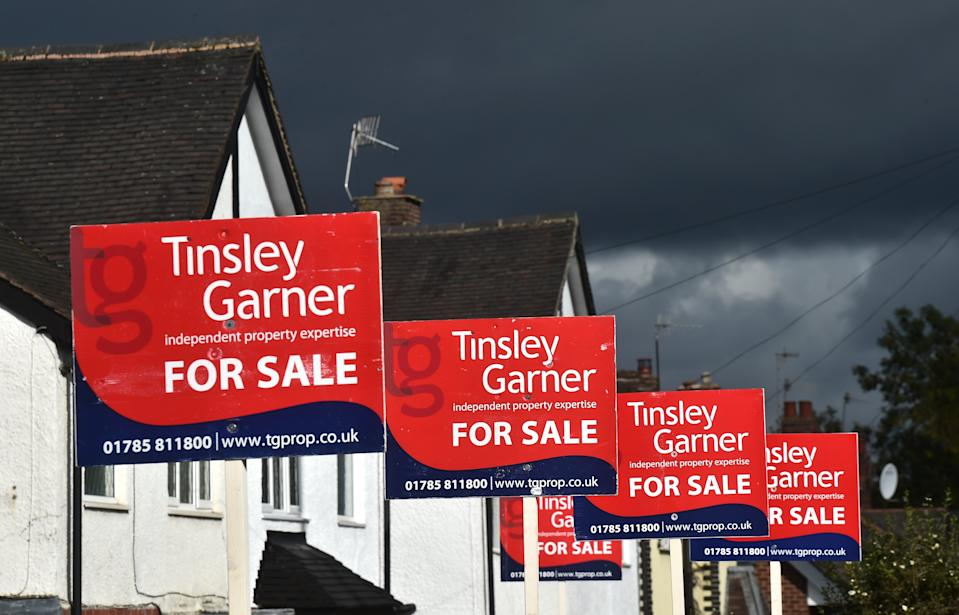 House for sale in Stoke on Trent, England. Photo: Nathan Stirk/Getty Images