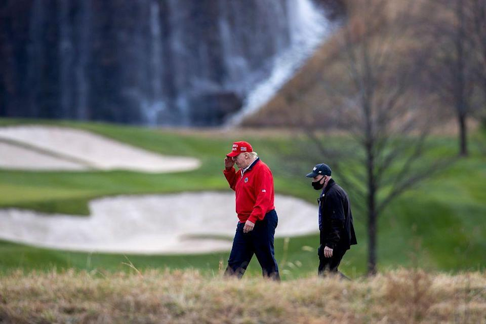 <p>Maybe Trump didn't realize he had his own putting green on the premises whenever he wanted to play a round of golf.</p>