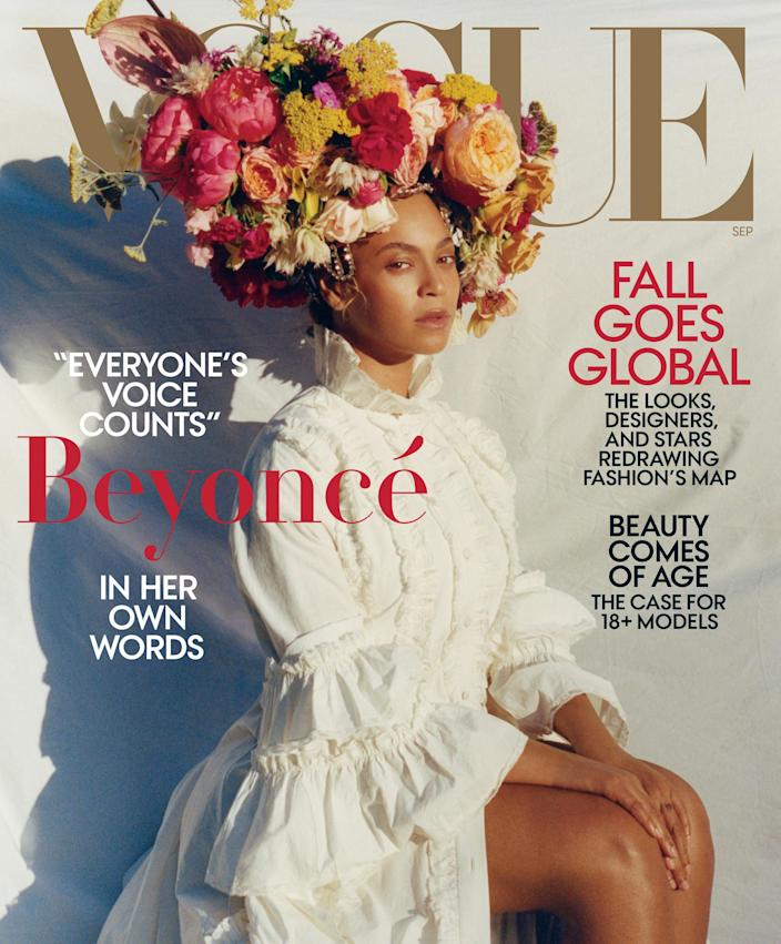 IMAGE: Beyonce on the cover of Vogue (Vogue)