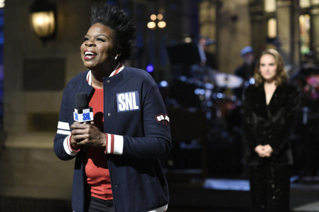 Leslie Jones during the opening monologue of <em>Saturday Night Live</em> on Feb. 3. (Photo: Will Heath/NBC)