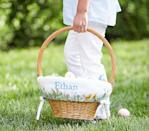 """<p>Easter is a big, big deal for the Drummond family. Down in Pawhuska, the day involves a glorious <a href=""""https://www.thepioneerwoman.com/food-cooking/meals-menus/g35213312/easter-brunch-ideas/"""" rel=""""nofollow noopener"""" target=""""_blank"""" data-ylk=""""slk:Easter brunch"""" class=""""link rapid-noclick-resp"""">Easter brunch</a> (well, what else would you expect from The Pioneer Woman?), a church service, and an unforgettable Easter egg hunt. But perhaps most exciting of all is Ree's tradition of filling her kids' <a href=""""https://www.thepioneerwoman.com/home-lifestyle/crafts-diy/g35325574/easter-baskets/"""" rel=""""nofollow noopener"""" target=""""_blank"""" data-ylk=""""slk:Easter baskets"""" class=""""link rapid-noclick-resp"""">Easter baskets</a> with tons of fun <a href=""""https://www.thepioneerwoman.com/holidays-celebrations/gifts/g35323840/easter-gifts-for-kids/"""" rel=""""nofollow noopener"""" target=""""_blank"""" data-ylk=""""slk:Easter gifts"""" class=""""link rapid-noclick-resp"""">Easter gifts</a> and <a href=""""https://www.thepioneerwoman.com/food-cooking/g35452335/best-chocolate-bunnies/"""" rel=""""nofollow noopener"""" target=""""_blank"""" data-ylk=""""slk:chocolate bunnies"""" class=""""link rapid-noclick-resp"""">chocolate bunnies</a>. </p><p>""""I put lip balm and for the girls I'll do makeup and makeup brushes. I've put iPods in Easter baskets,"""" she says. """"I usually like to find something to surprise them with."""" </p><p>But even if you're not sure what to put <em>in</em> the baskets this year, you can always spiff up the exteriors. The easiest way to do just that? Up the ante with a personalized Easter basket featuring your kids' names, and they'll be extra delighted—even if there are no iPods to be found inside. These nifty vessels happen to double as <a href=""""https://www.thepioneerwoman.com/home-lifestyle/crafts-diy/g35323396/easter-decorations/"""" rel=""""nofollow noopener"""" target=""""_blank"""" data-ylk=""""slk:Easter décor"""" class=""""link rapid-noclick-resp"""">Easter décor</a>, and they can even sub in for place cards at your family meal. What's more, some """