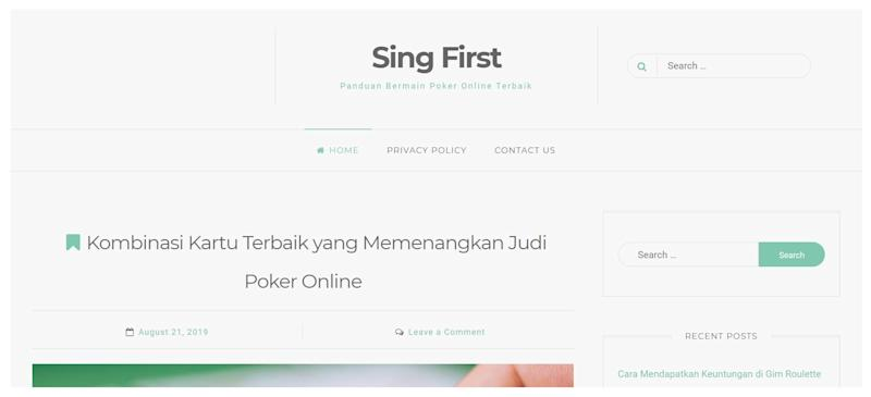 SCREENCAP: Screengrab of​ ​SingFirst​'s website (linked from​ ​SingFirst​ Facebook page)