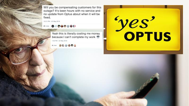 Customers have been left fuming over Optus' latest outage. Images: Getty, Twitter
