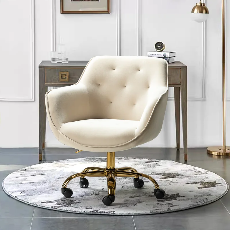"""<h2>Gold Flamingo Clio Task Chair</h2><br><strong>Best For: Elegant Comfort</strong><br>If you're looking for an office chair that makes a statement, this is it. This bucket-shaped tufted option comes in twelve jewel-toned shades. Reviewers rave about it's glam look, super soft velvet, and ease of assembly.<br><br><strong>The Hype: </strong>4.5 out of 5 stars and 121 reviews on <a href=""""https://www.wayfair.com/furniture/pdp/gold-flamingo-clio-task-chair-w004351154.html"""" rel=""""nofollow noopener"""" target=""""_blank"""" data-ylk=""""slk:Wayfair"""" class=""""link rapid-noclick-resp"""">Wayfair</a><br><br><strong>Comfy Butts Say: </strong>""""This chair is amazingly comfortable. I am so happy with it. Since working from home the last few months I have been in this chair all day almost every day. It gives great support and it looks fantastic! I just ordered another one for my office at work..""""<br><br><strong>Gold Flamingo</strong> Clio Task Chair, $, available at <a href=""""https://go.skimresources.com/?id=30283X879131&url=https%3A%2F%2Fwww.wayfair.com%2Ffurniture%2Fpdp%2Fgold-flamingo-clio-task-chair-w004351154.html"""" rel=""""nofollow noopener"""" target=""""_blank"""" data-ylk=""""slk:Wayfair"""" class=""""link rapid-noclick-resp"""">Wayfair</a>"""