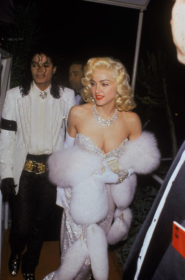 <p>This photo of Madonna attending the 1991 Oscars with Michael Jackson has to be one of the most iconic red carpet snaps of all time. The singer was clad in a diamond-encrusted Bob Mackie dress, thought to be worth $20 million. </p>