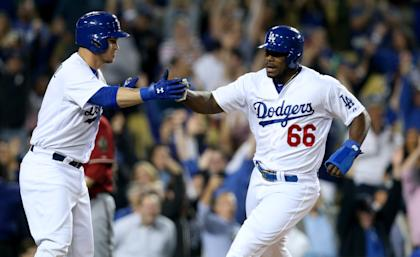 Yasiel Puig's production makes shipping him out a no-go right now. (Getty)