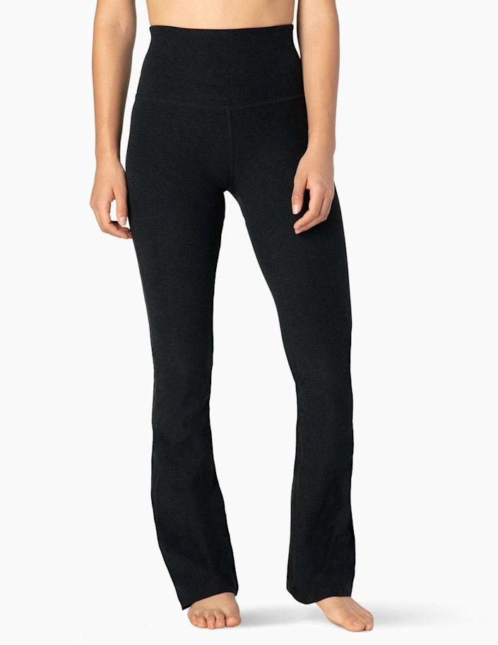 <p>If you're into the flared leggings look, go for these <span>Beyond Yoga Spacedye High Waisted Practice Pant</span> ($99).</p>