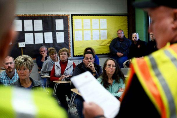 PHOTO: Participants listen to instructors during ALICE (Alert, Lockdown, Inform, Counter and Evacuate) training at the Harry S Truman High School in Levittown, Penn., Nov. 3, 2015. (Jewel Samad/AFP/Getty Images)