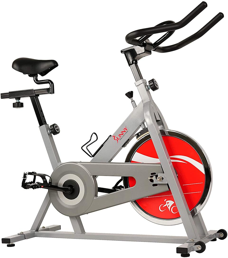 Sunny Health & Fitness Chain Drive Indoor Cycle Bike. Image via Amazon.