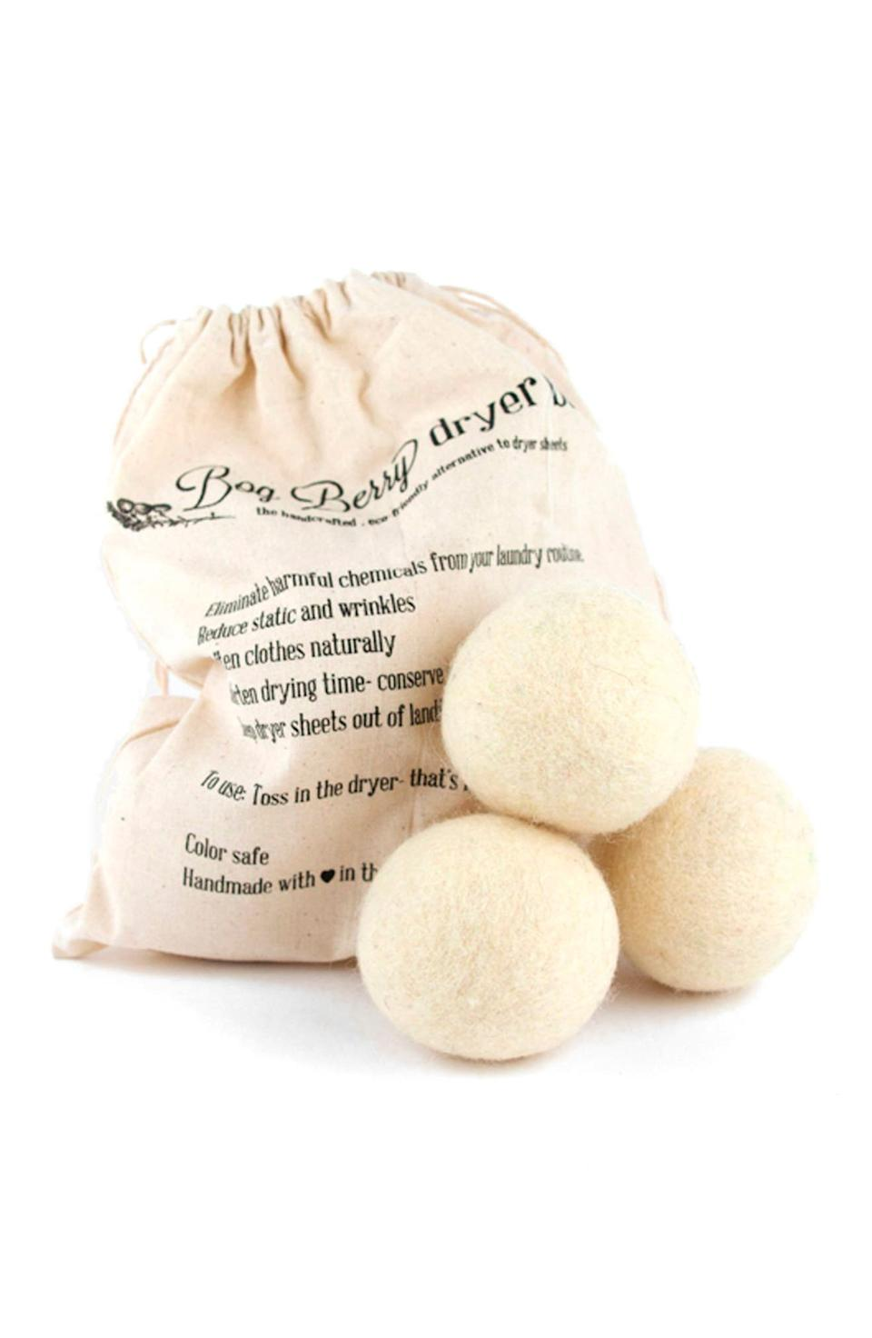 Package Free x Bog Berry Wool Dryer Balls. Image via Nordstrom.