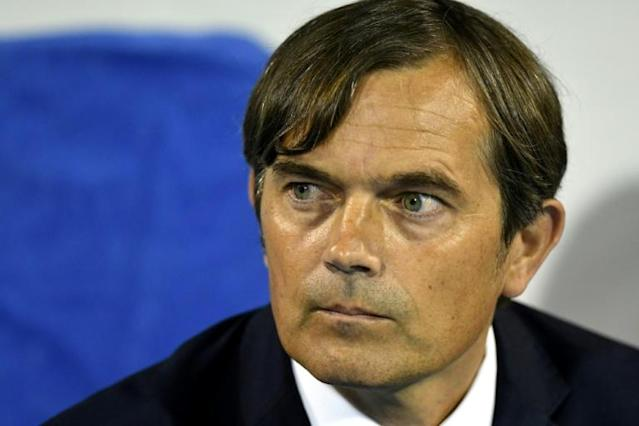 Phillip Cocu suffered his first defeat as Derby County manager against Bristol City (AFP Photo/STR)