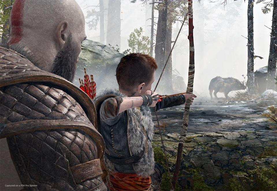 As a father, Kratos has to work to teach his son how to handle himself in the dangers of Midgard.