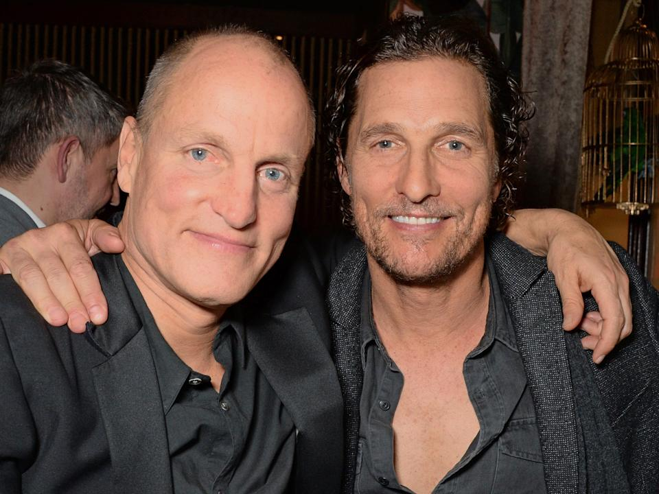 Woody Harrelson and Matthew McConaughey in 2018.