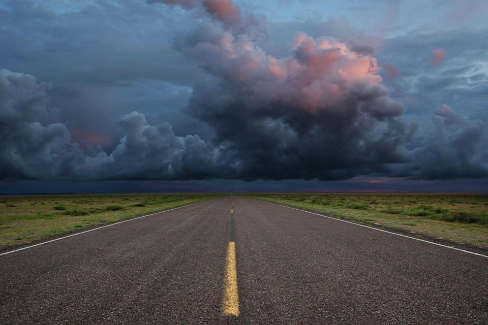 """<p>The stretch of highway leading toward Fort Benton is home to the eerie legend of the <a href=""""https://www.onlyinyourstate.com/montana/hitchhiker-of-black-horse-lake-mt/"""" rel=""""nofollow noopener"""" target=""""_blank"""" data-ylk=""""slk:Black Horse Lake Phantom"""" class=""""link rapid-noclick-resp"""">Black Horse Lake Phantom</a>. </p><p>It's said that if you're traveling the lonely highway at night, a hitchhiker dressed in all denim standing on the side of the road might suddenly appear in the distance. The hooded figure will then roll over the hood of the car, as if he's been hit. But when the driver gets out of the car to check, the hitchhiker will suddenly be gone. </p>"""
