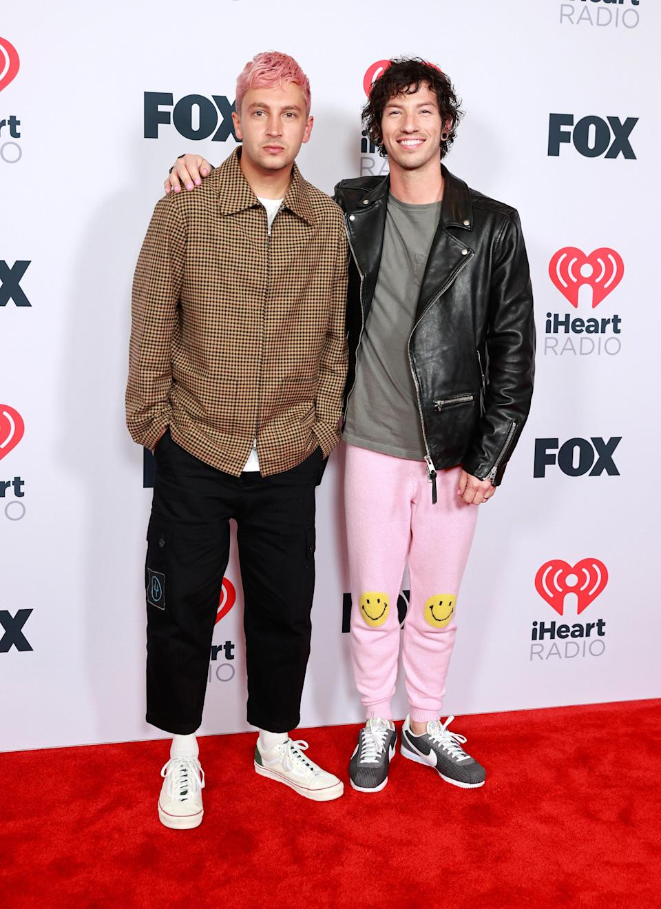 Twenty One Pilots members Tyler and Josh kept it cool and casual in sneakers for the red carpet.