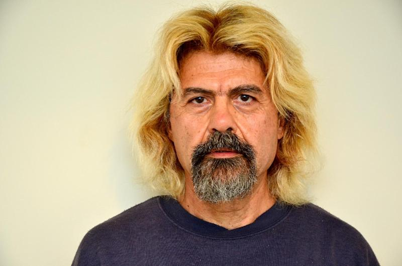 A picture released by Greek police shows convicted terrorist Christodoulos Xiros after his arrest on January 3, 2015