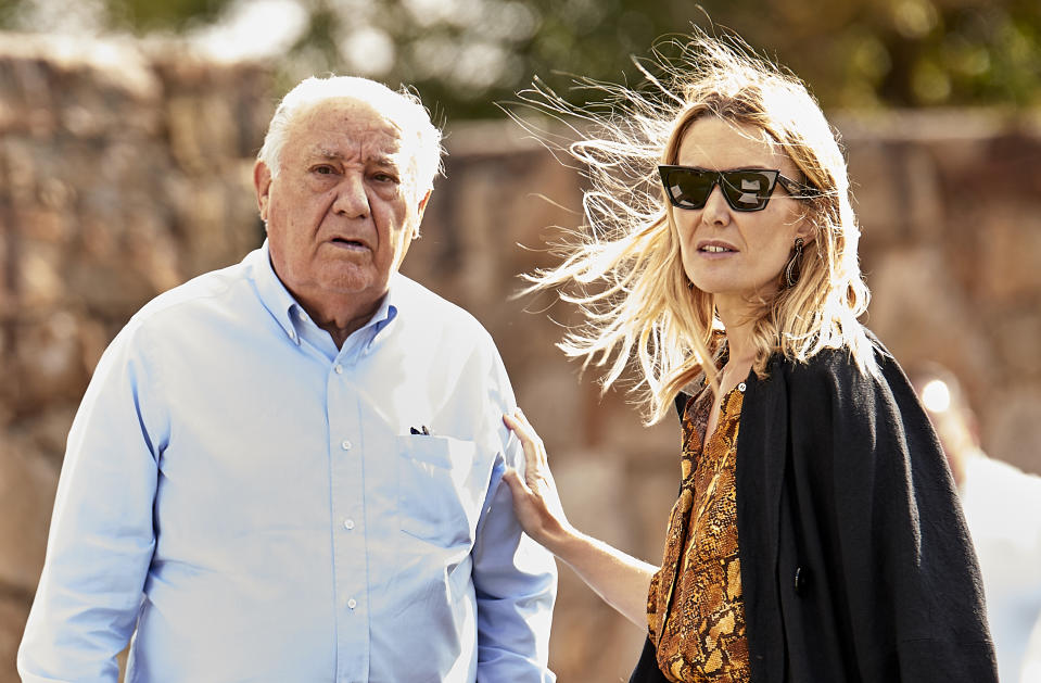 A CORUNA, SPAIN - JULY 20:  Marta Ortega and Amancio Ortega attend during CSI Casas Novas Horse Jumping Competition on July 20, 2018 in A Coruna, Spain.  (Photo by fotopress/Getty Images)