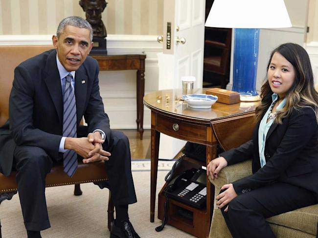 nina pham ebola nurse with obama