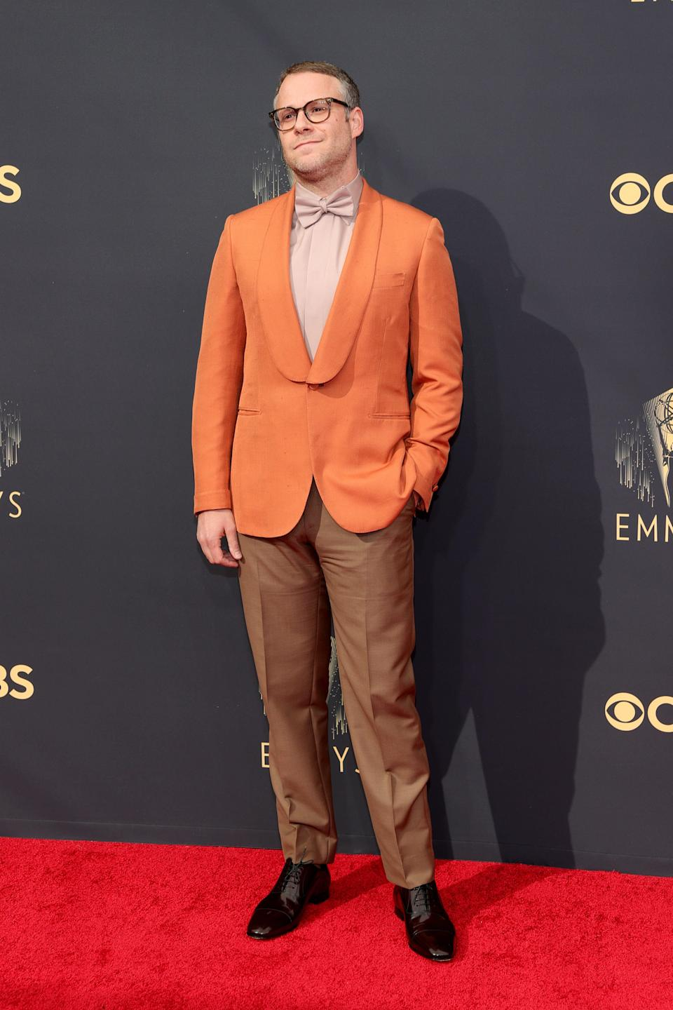 Seth Rogen attends the 2021 Emmys.