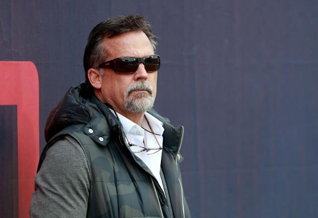"""All in good fun: Jeff Fisher had funny responses to people making """"7-9"""" jokes at his expense. (Getty Images)"""