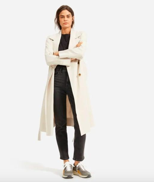<p>Sometimes classic is the way to go.</p> <p><span>Everlane The Drape Trench</span> ($148) <br></p>