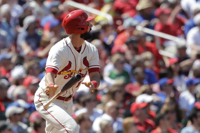 "<a class=""link rapid-noclick-resp"" href=""/mlb/players/8953/"" data-ylk=""slk:Matt Carpenter"">Matt Carpenter</a>'s hits have been few and far between this season (AP Photo/Charles Rex Arbogast)"