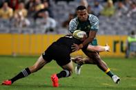 Filipo Daugunu (R) was one of the players dropped by Australia coach Dave Rennie