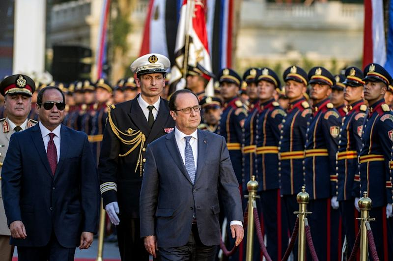 Francois Illas New Tradition: France's Hollande Begins Two-day Visit To Egypt