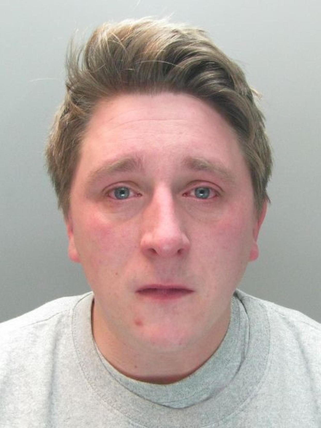 Sam Pybus drank 24 bottles of lager in the 10 hours before he choked his casual lover Sophie Moss to death in February. (Police Handout)