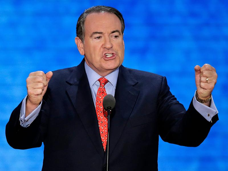 """Appearing on a radio program, Huckabee <a href=""""http://www.huffingtonpost.com/2014/08/06/mike-huckabee-impeachment_n_5655636.html?utm_hp_ref=mike-huckabee"""" target=""""_blank"""">said</a> that President Barack Obama had done things that were """"worthy"""" of impeachment, but suggested that impeaching the president would be pointless because Democrats in the Senate would block it. Huckabee later <a href=""""http://www.huffingtonpost.com/2014/08/11/mike-huckabee-impeachment_n_5669605.html?utm_hp_ref=mike-huckabee"""" target=""""_blank"""">retreated</a> from the comments, saying: """"I think impeachment ought to be something that would be used in the rarest and most unusual of circumstances, and because a person has perhaps exceeded his authority, and in this case I believe the president has in a number of areas, doesn't mean that's advisable."""""""