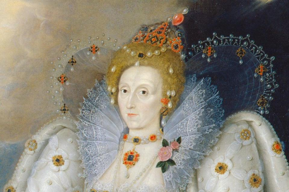 <p>A detail from the Ditchley portrait of Elizabeth I</p> (National Portrait Gallery)