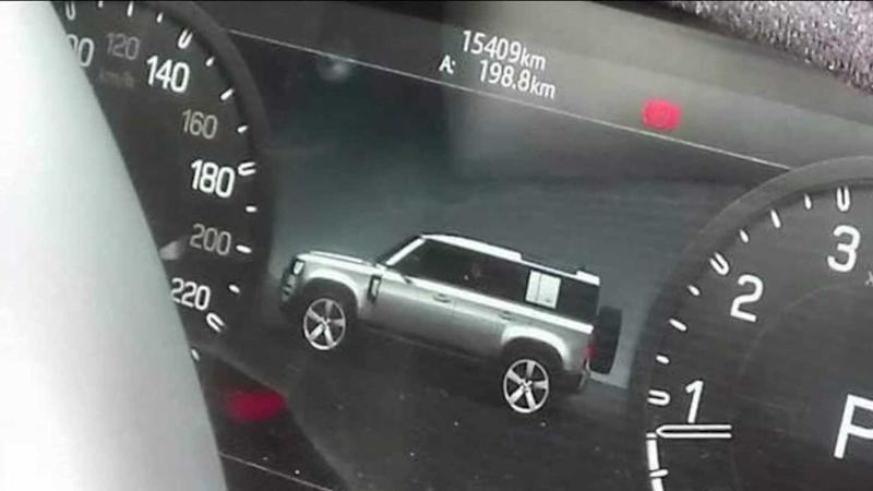 2020 Land Rover Defender as shown on its own digital instrument cluster