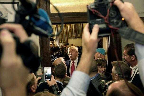 PHOTO: Then-Republican Presidential candidate Donald Trump files paperwork for the New Hampshire primary at the State House in Concord, N.H., Nov. 4, 2015. (Darren Mccollester/Getty Images, FILE)
