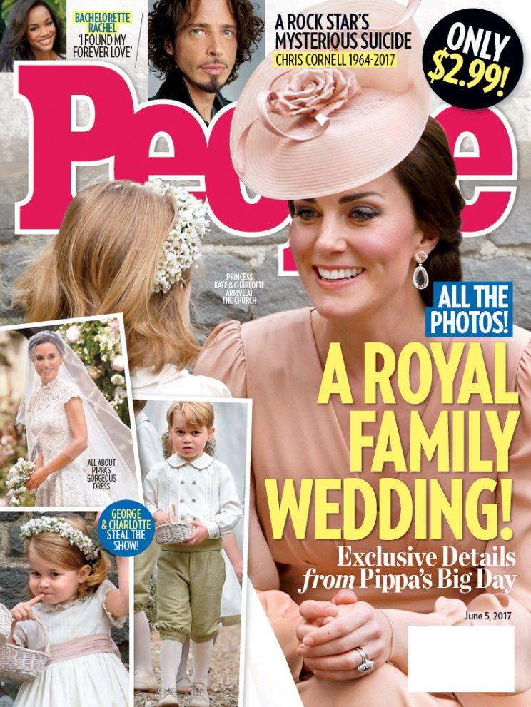 The People magazine cover about Pippa Middleton's wedding. A Royal Family Wedding.