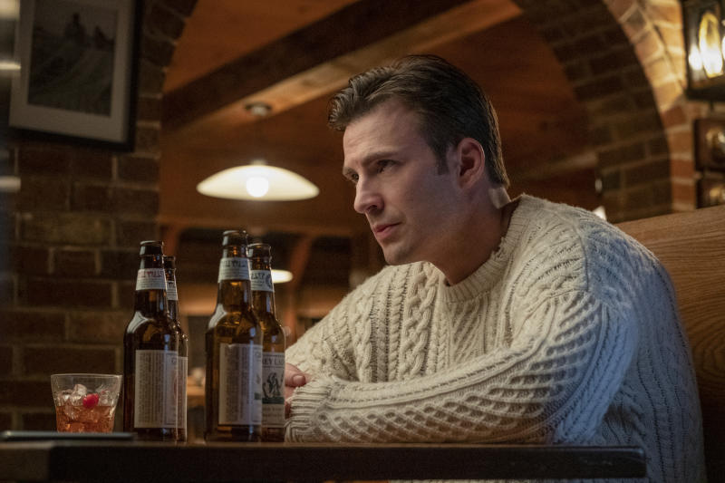 """This image released by Lionsgate shows Chris Evans in a scene from """"Knives Out."""" (Claire Folger/Lionsgate via AP)"""