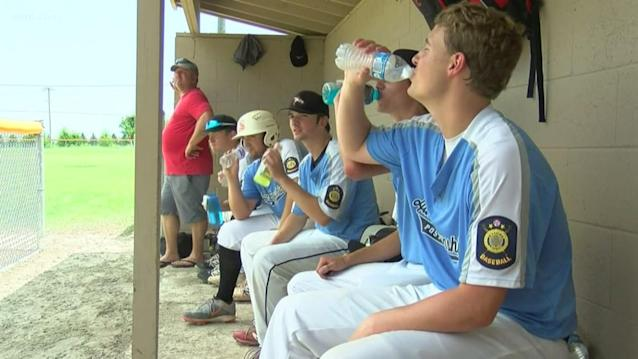 Local baseball teams sweating out the summer heat