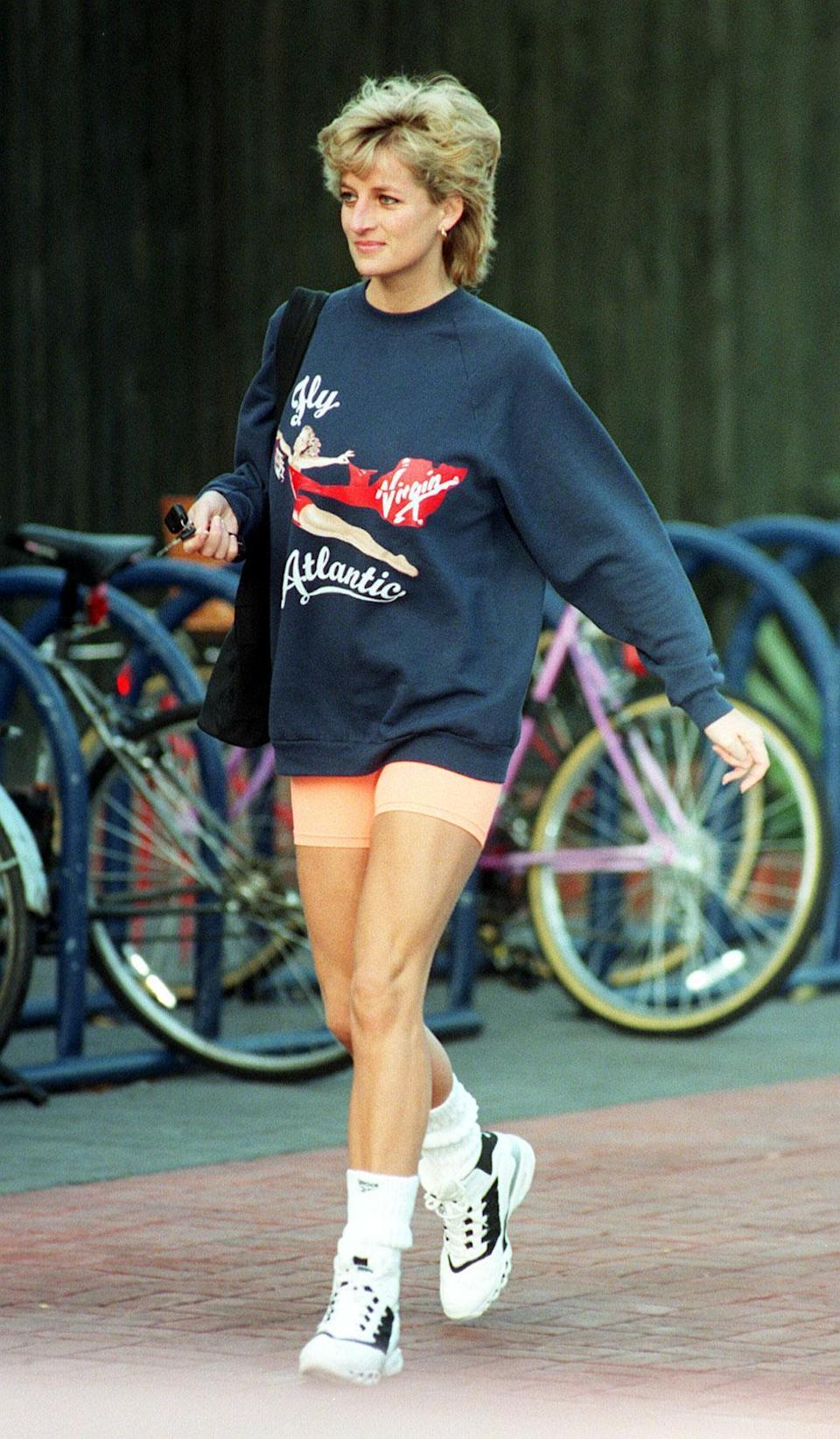 Princess Diana donned cycling shorts in the 90s. [Photo: PA]