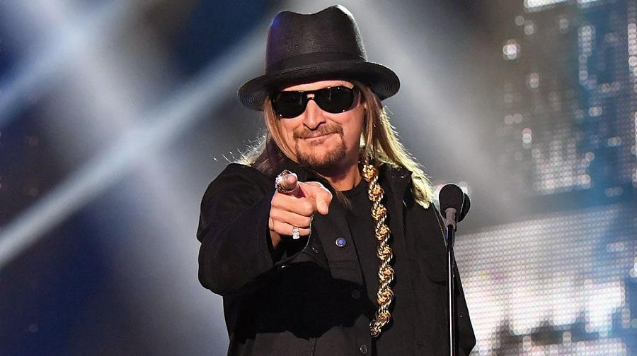 """Kid Rock fired back at critics, stressing he """"loves black people"""" and dismissing criticisms of his past onstage use of the Confederate flag."""