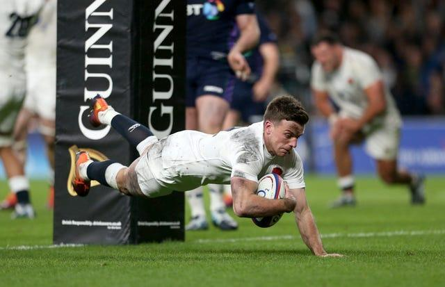 George Ford scores the injury-time try that denied Scotland two years ago