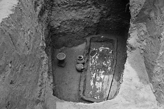 Archaeologists discovered the 1,500-year-old tomb holding the coffin and skeleton of a woman named Farong, in Datong City, China.